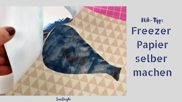 Anleitung: Freezer Papier selber machen