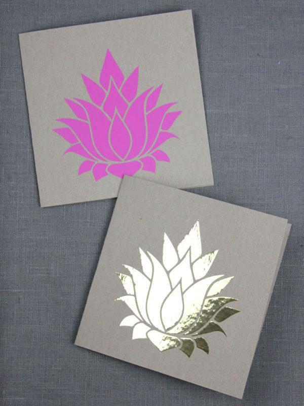 Lotusblüten [Plotter-Freebie]
