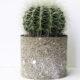 DIY Pflanztöpfe aus Kork mit Farbsprenkeln