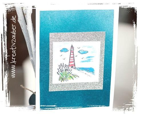 Stempel Leuchtturm Karte