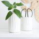 Struktur Vase aus Modelliermasse
