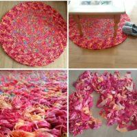 Neuer Teppich aus Alter Bettwäsche - Upcycling