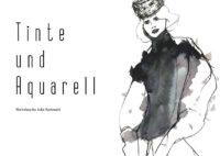 Tinte und Aquarell