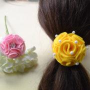 Blühende Blumen mit Zuchtperlen