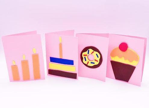 Geburtstagskarten aus Moosgummi selber machen