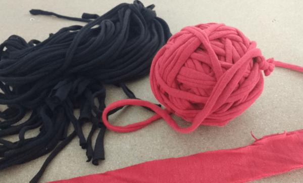 19 Textilgarn-Ideen aus alten T-Shirts oder Bettlaken