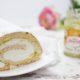 Biskuitrolle mit Marmelade