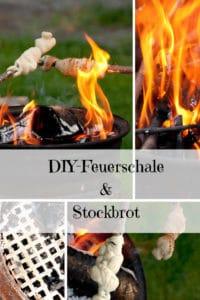 DIY Feuerschale und Stockbrot