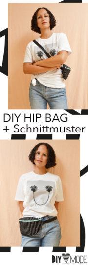 Hip Bag nähen mit Schnittmuster und Video-Anleitung