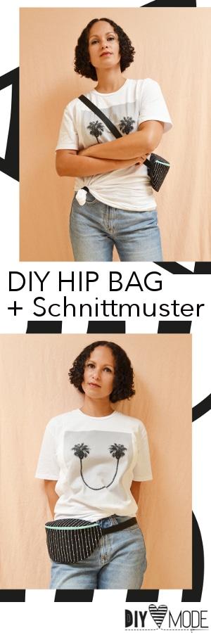 Hip Bag nähen mit Schnittmuster und Video-Anleitung - HANDMADE Kultur