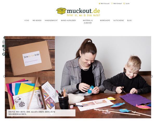 Startseite - muckout & zusammen selbermachen! Dein DIY-Onlineshop