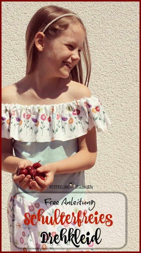 Schulterfreies Kleid – Anfänger Näh Anleitung