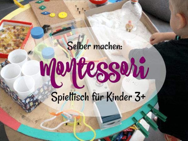 Spieltisch Selber Bauen diy spieltisch nach montessori handmade kultur