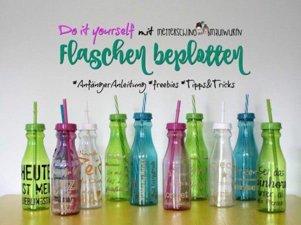 Plotter Idee & Anleitung – Trinkflaschen