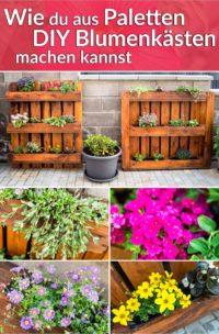 Wie du aus Paletten DIY Blumenkästen herstellst