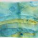 Ein Bild aus Wasserfarbe und Stoff