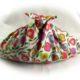 Nähen einfach : Knotentasche aus zwei Stoffrechtecken