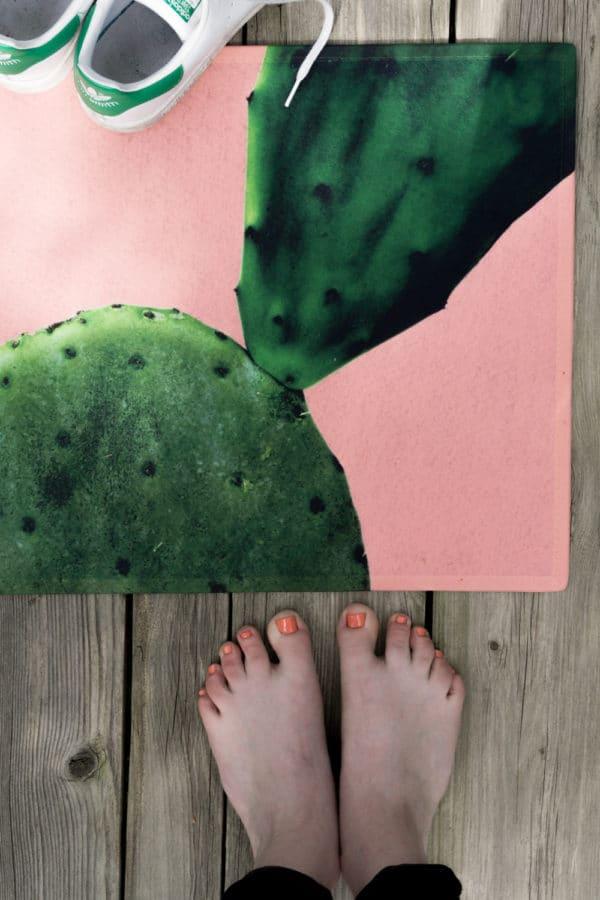 diy fu matte mit kaktus farbe handmade kultur. Black Bedroom Furniture Sets. Home Design Ideas