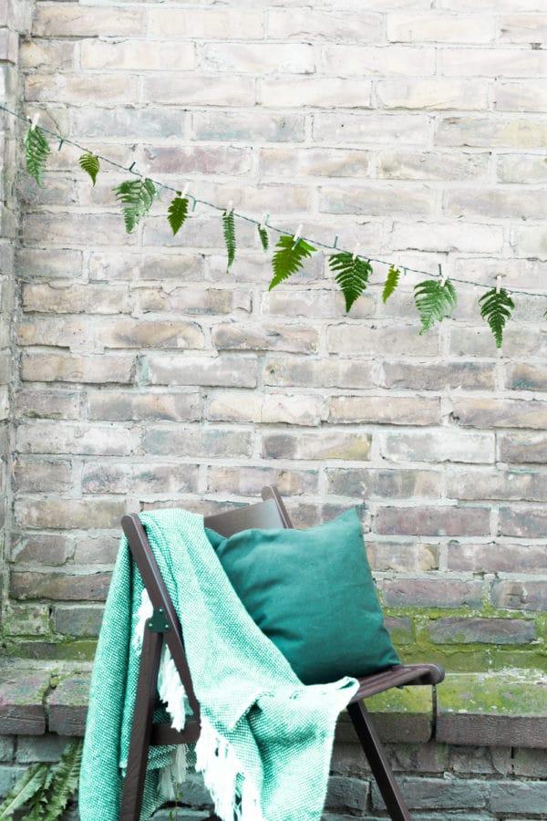 DIY florale Lichterketten-Girlande