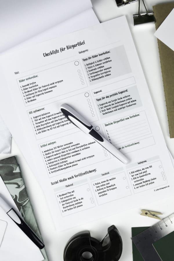 Blogger aufgepasst: Meine Blogpost-Checkliste für euch zum Ausdrucken
