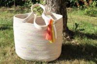 Sommertasche aus Seilen zusammengenäht – Rope Tote Bag