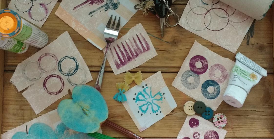 Stoffdruck Mit 10 Dingen Die Du Zuhause Hast Handmade Kultur