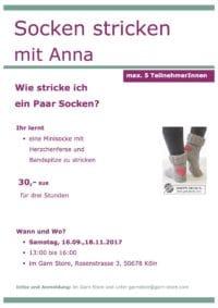 Socken stricken mit Anna