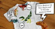 Heute gibt's Farbe aufs Shirt … und Dreiecke ... und ein Dino