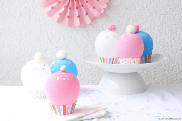 DIY Luftballon Cupcakes