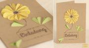 Einladungskarte mit Blumenmotiv