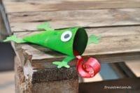 Kindergeburtstag: Froscheinladung selber basteln