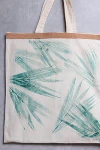 Tasche mit Botanikdruck