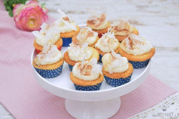 Kokos-Cupcakes mit Frischkäse