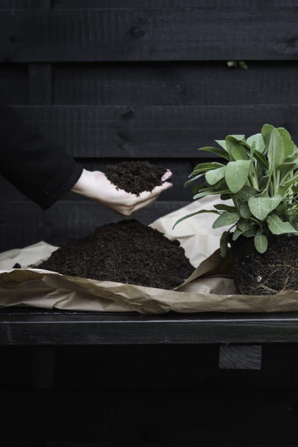ein hochbeet pflanztisch f r kr uter selber bauen. Black Bedroom Furniture Sets. Home Design Ideas