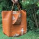 DIY Leder-Shopper mit Schmetterlingsdruck