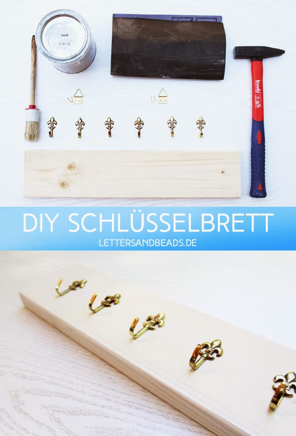 diy schl sselbrett handmade kultur. Black Bedroom Furniture Sets. Home Design Ideas