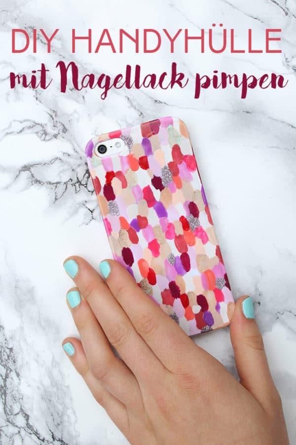 Nagellack-Makeover für die Handyhülle
