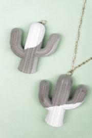 DIY Kaktus-Kette aus Beton