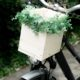 DIY floraler Fahrradkorb