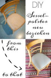 Gepolsterten Sessel neu beziehen
