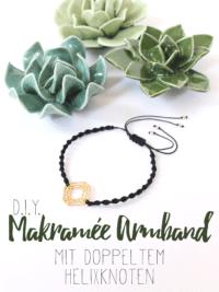 Makramée Armbänder mit doppeltem Helixknoten