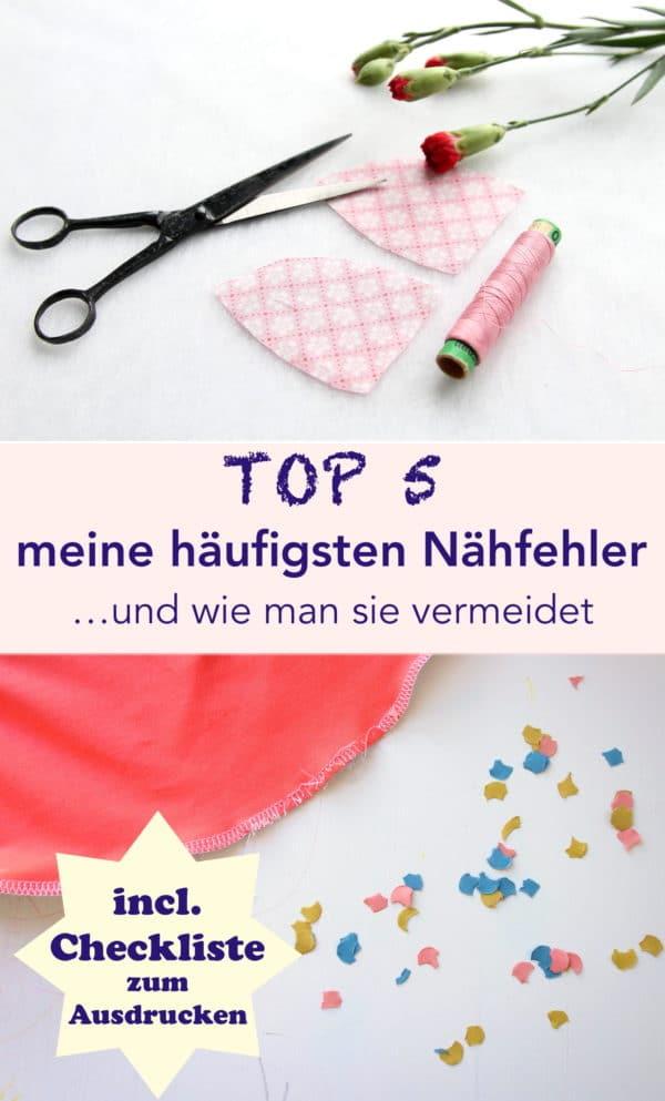 TOP 5: meine häufigsten Nähfehler