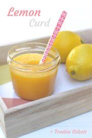 Sommer im Glas: Lemon Curd mit Etikett-Freebie
