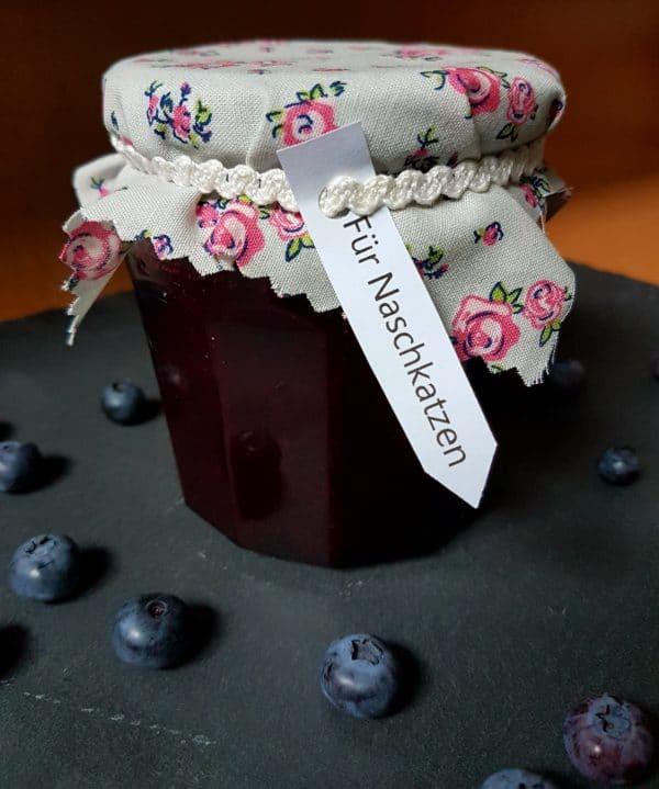 Fruchtige Blaubeerenmarmelade zum Verschenken inkl. Printabel
