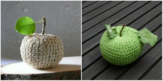 Dekorationsobjekt Apfel Gehäkelt Und Genäht Handmade Kultur