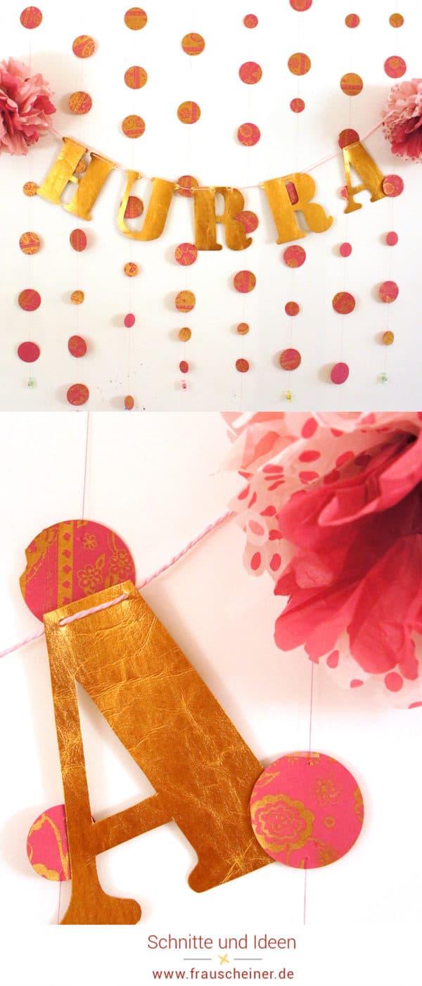 Hurra! Eine Girlande für Feste, Geburtstage und Hochzeiten