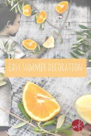 Easy Tischdeko für den Sommer