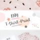DIY / SHIRT MIT DIAMANT-KUPFER-PRINT