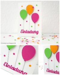 Einladungskarte mit Luftballons