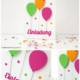 Einladungskarte mit bunten Luftballons
